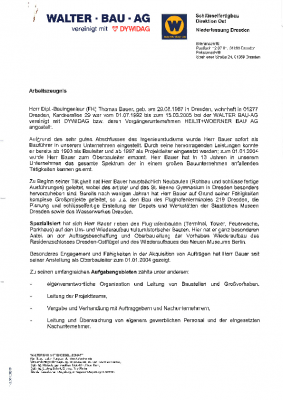 2001 Projektleiter bei Walter Bau AG / DYWIDAG (Fusion mit Heilit+Woerner)